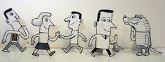 Cut Outs - Allan Sanders : illustrator