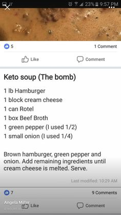 cheeseburger soup simple / easy Keto recipe (use less broth, add cheese, more onion) Ketogenic Recipes, Low Carb Recipes, Diet Recipes, Healthy Recipes, Recipes Dinner, Tilapia Recipes, Cheese Recipes, Soup Recipes, Chicken Recipes