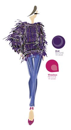 Nanette Lepore - PANTONE Color Acai - Pantone Fashion Color Report, Fall 2013