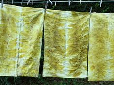 pecan eco dyed old pillow cases by lotta helleberg
