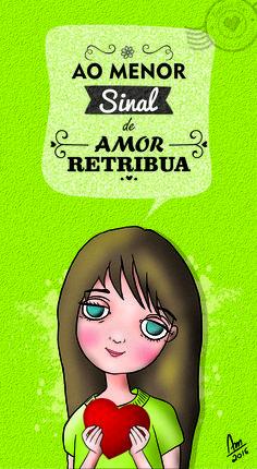 Ao menor sinal de amor, retribua! : Querido Pix Ilustrações Personalizadas