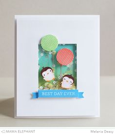 A shaker card. The stamp sets are ME Love Quotes and Good Times.