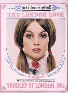 Vintage Yardley of London ad from 1960's. I loved this makeup!