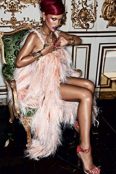 Rihanna very high fashion