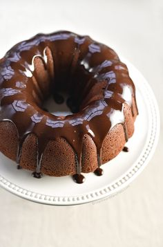 Chocolate Bundt Cake with Chocolate Espresso Glaze