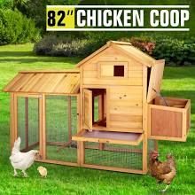 82 wooden chicken coop poultry cage hen duck house pet rabbit hutch run backyard poultry