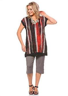 #TS Into the Fire Tunic #plussize #curvy #takingshape