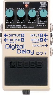 Boss DD7 Digital Delay Pedal | Delay Effect Stompbox