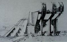 Melnikov, projet de concours pour le Palais des Soviets, Moscou, 1931
