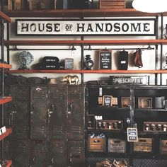 New Americana design - I like the house of handsome sign!