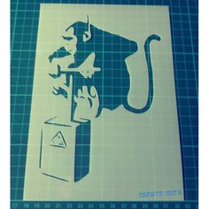 Banksy rat with umbrella suitcase wall art stencil,Strong,Reusable,Recyclable