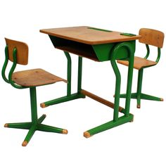 1stdibs.com | A French Child's Desk & Matching Chairs