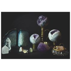 HOME  Our Decor section is now up for all our crystal lovers . We've added a gorgeous selection of spheres points and geode bookends to energize your spaces with a little love from the earth...and Kate Hewko.  #katehewko #decor #enlightened #living by katehewko