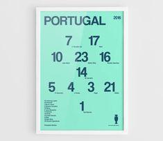 Poster de Portugal Uefa Euro Francia 2016 fútbol por NazarDes