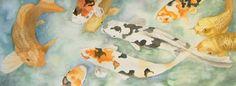 koi - watercolor 11 x 15 private collection