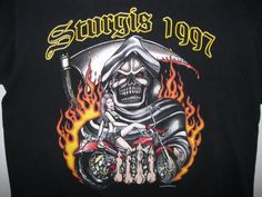 Sturgis 1997 t-shirt w/ bikini girl on bike pinup 57th anniversary XL #FruitoftheLoom #GraphicTee