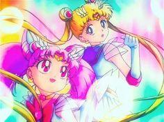 Super Sailor Chibi-Moon and Super Sailor Moon