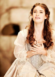 "shakespiracy: "" ""Lily James as Desdemona in Othello (2011). "" """