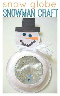 Snowman snow globe. Totally doing this before our break.