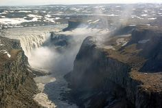 Aerial View of Dettifoss, Iceland