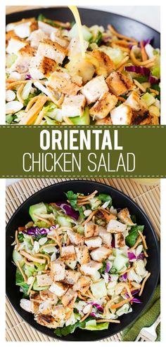 Easy Oriental Chicken Salad: a delicious salad that is perfect all year round! Grilled chicken and lots of veggies makes this for a healthier lunch recipe and one the family will love! Grilled Chicken Salad, Chicken Salad Recipes, Chicken Ideas, Chicken Sandwich, Lunch Recipes, Dinner Recipes, Healthy Recipes, Dinner Ideas, Fast Recipes