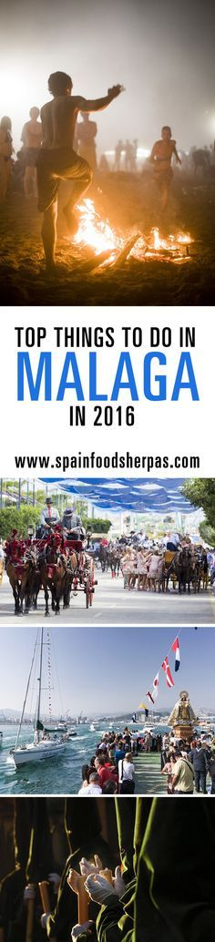 "Things to do in Malaga in 2016  Malaga is alive. Both the capital and the province demonstrate that each year with a wide variety of activities ranging from gastronomy to movies, traditions, music, folklore or summer ""moragas"", festivals at the beach. In Spain Food Sherpas we chose 20 essential things to do in Malaga in 2016.  They may not be the most important ones, but those that we believe will allow you to discover the true essence of Malaga. Take your calendar and something to write."