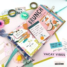 bucket list layout bucket list layout Spring Bucket List Mini Album With Sunny Days - Aspire by Grace Scrapbook Journal, Mini Scrapbook Albums, Scrapbook Paper Crafts, Mini Albums, Scrapbook Layouts, Cotton Candy Crafts, Baby Mini Album, How To Tie Ribbon, Polka Dot Paper