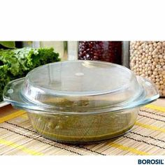 BOROSIL ROUND CASSEROLE 1 Ltr - % flame proof and hot plate proof•Can be placed directly from freezer/frig to flame without fear of cracking•Can be used in microwave, oven and dishwasher Microwave Rice Cooker, Microwave Cookware, Microwave Dishes, Online Kitchen Store, Buy Kitchen, Kitchen Items, Cooking Utensils, Kitchen Utensils, Kitchen Appliances