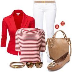 Red & White Stripe Shirt