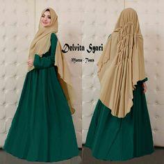 Baju Muslim Gamis Syar'i Delvita Syari Mocca-Tosca - http://warongmuslim.com/baju-muslim-gamis-syari-delvita-syari-mocca-tosca.html