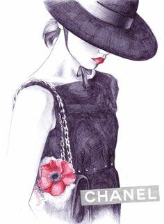 CHANEL SPRING-SUMMER 2010 – FASHION ILLUSTRATION – LENA KER