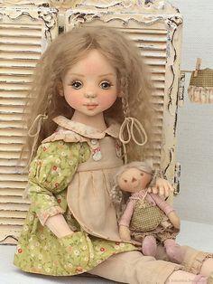 Ярмарка Мастеров.Ольга Бабынина.Текстильная куколка `Мамина помощница`