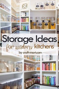 DIY Storage Ideas for Small Kitchens Clever Storage Ideas for Small Kitchens - modern well-organized pantry with defined storage Small Kitchen Organization, Small Kitchen Storage, Small Space Kitchen, Kitchen Cabinet Storage, Home Organization Hacks, Pantry Organization, Small Kitchens, Small Spaces, Organized Pantry