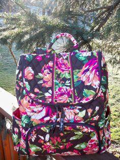 Vera Bradley Double Zip Backpack New College High School Bookbag Variety Pattern   eBay