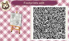 Animal Crossing Footprints in snow