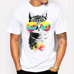 Men's T-Shirts - NEW Printed Tee - WHITE