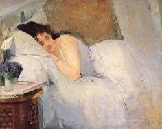 Eva Gonzalès, 'Morning Awakening', 1876.