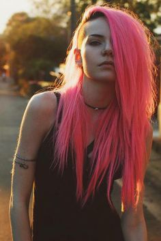 Even though I dislike wearing the color pink, I would totally die my hair that color, for some reason!