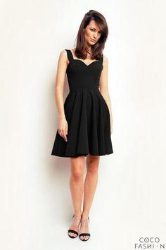 #Black heart shape neckline coctail dress  ad Euro 33.80 in #Cocofashion #Clothing dresses
