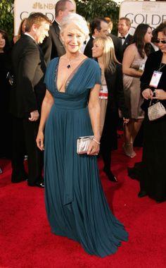 That dress! Helen Mirren is beautiful. Helen Mirren in Donna Karan
