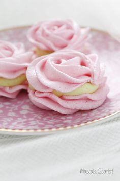 Pink Merenque Sandwiches