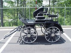 Single Marathon Horse Carriage Convertible to Pair For Training or Competition