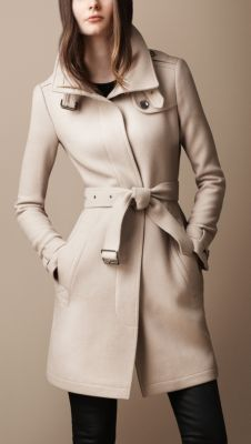 Burberry - Belted Collar Wool Coat