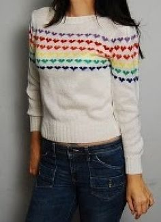 A staple in 80's fashion....my grandmother got me a sweater like this every year for about 3 years straight.  >:-|