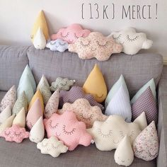 zu rain drop and cloud pillows found on catchoo cutie pie blog — catchoo & company.