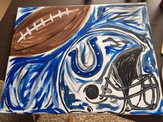 Sports Painting  Football  Indianapolis Colts by HeartfeltCanvas. I want this for my woman cave ha ha
