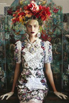 floral+vogue+flower+hat