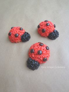lady bug rice krispie treats!  who would have thought?