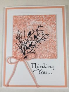 SU! Serene Silhouettes and Thoughts & Prayers (sentiment) stamp sets - Karen Hallam