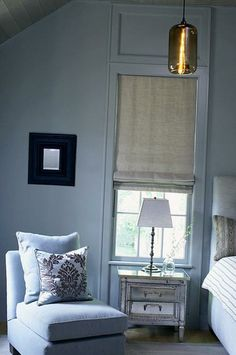 Roman window coverings and bedroom decorating ideas